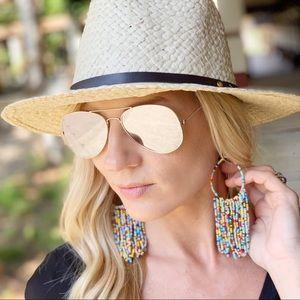 Multi Color Beaded fringe earrings